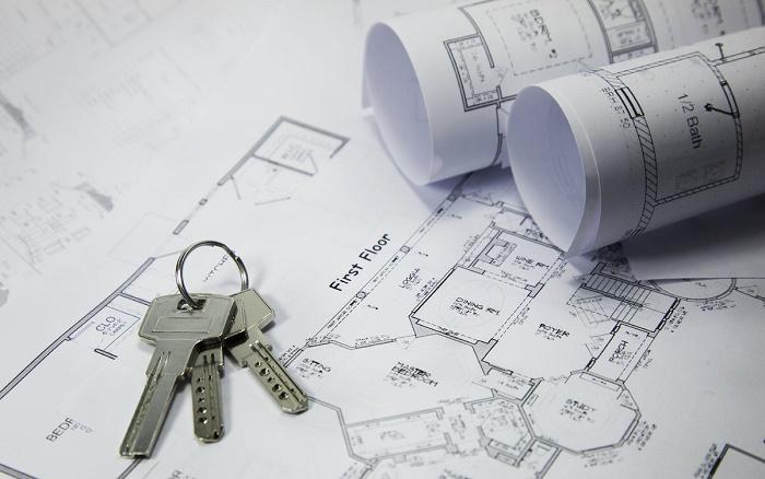 Makler-Immobilien-Immobilienmarkt-Schluessel-Bauplan-Bauplaene-Bauen-Architekt-Haus-Immobilie_image_1200
